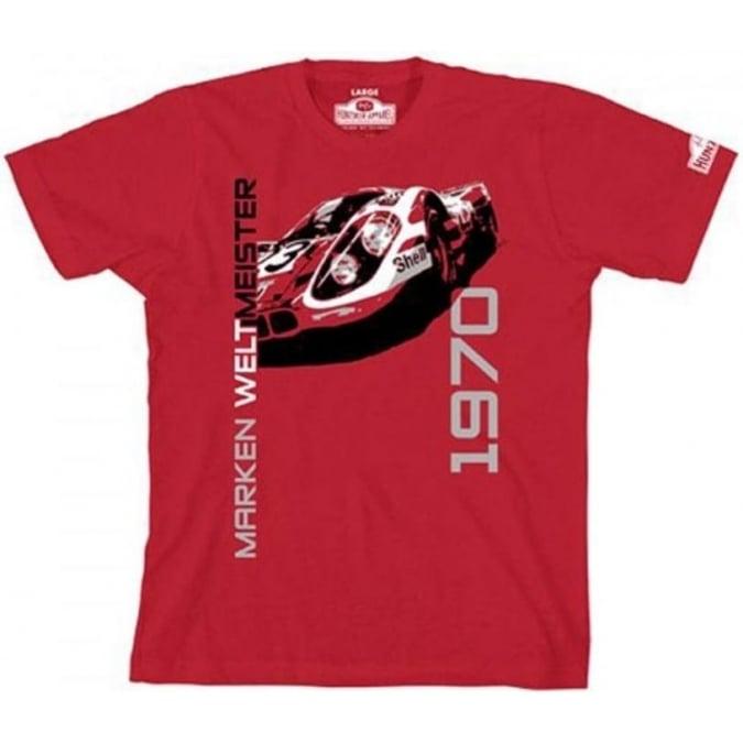 Hunziker Apparel 917K Marken Weltmeister 1970 T-Shirt