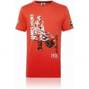 James Hunt Portrait Graphic T-shirt Hunziker