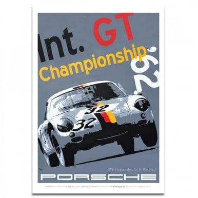 Porsche Poster Int. GT Championship Porsche 356 Abarth by Nicolas Hunziker