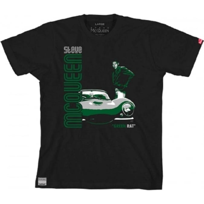 Hunziker Apparel Steve McQueen Green Rat T-Shirt Black