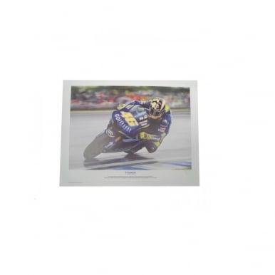 Il Campione - Valentino Rossi by Robert Tomlin Print Poster