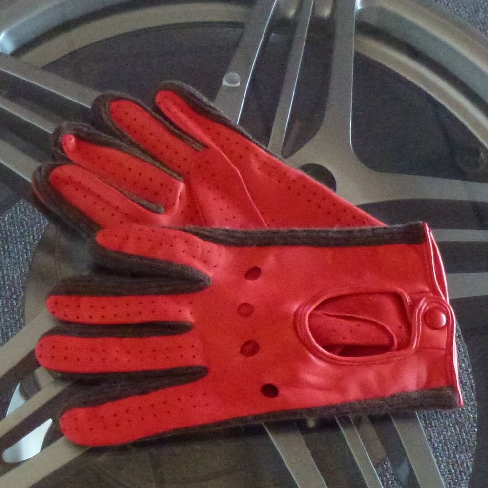Italian Driving Gloves Size 10 Racing Red From 195 Mph Uk