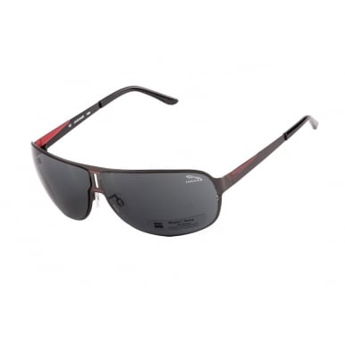 Aviator Style Black Red Sunglasses