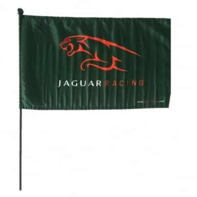 Jaguar F1 Racing flag with pole