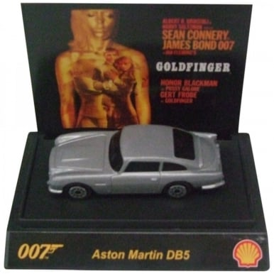 James Bond 007 Collectible 1:64th Scale Aston Martin DB5 by Shell