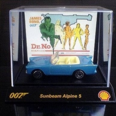 James Bond 007 Collectible 1:64th Scale Car From Shell Sunbeam Alpine 5