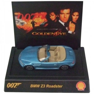 James Bond Car 007 Collectible 1:64th Scale BMW Z3 Roadster by Shell