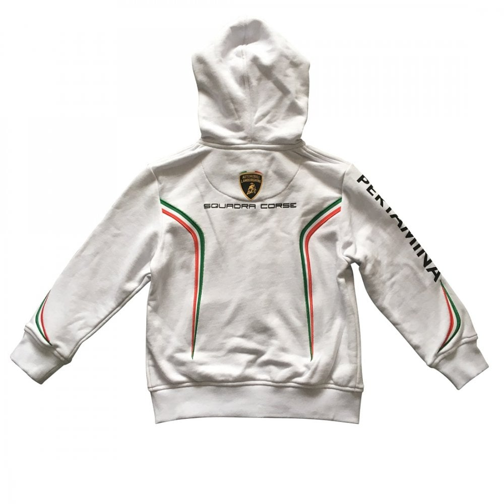 Clothing, Shoes & Accessories Lamborghini Kids Zip-up Hoodie White