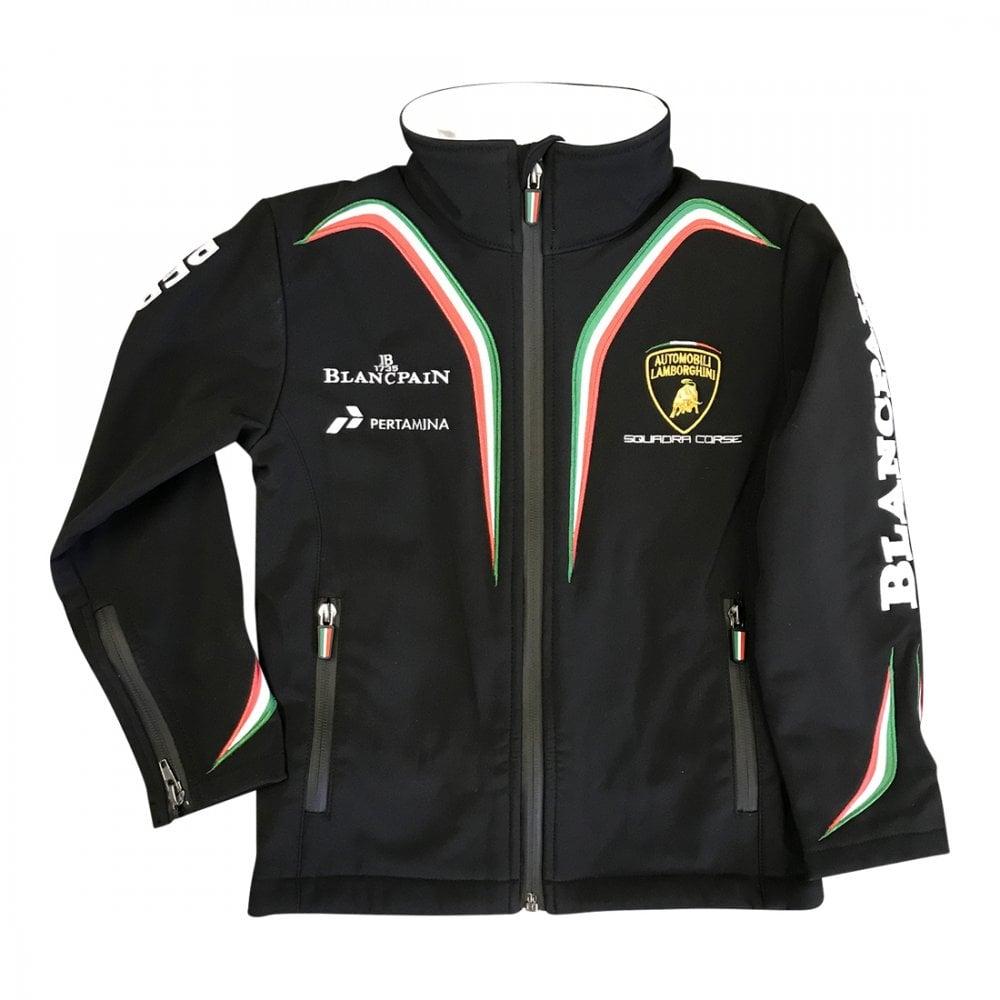 Lamborghini Squadra Corse Kids Softshell Jacket Black