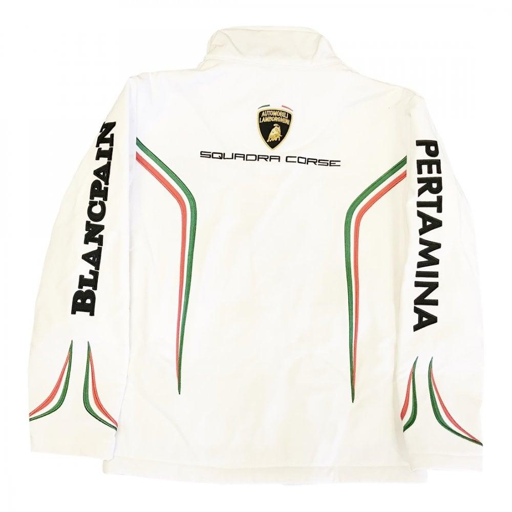 Lamborghini Squadra Corse Kids Softshell Jacket White
