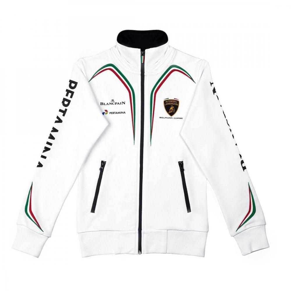Unisex Clothing Lamborghini Kids Zip-up Hoodie White