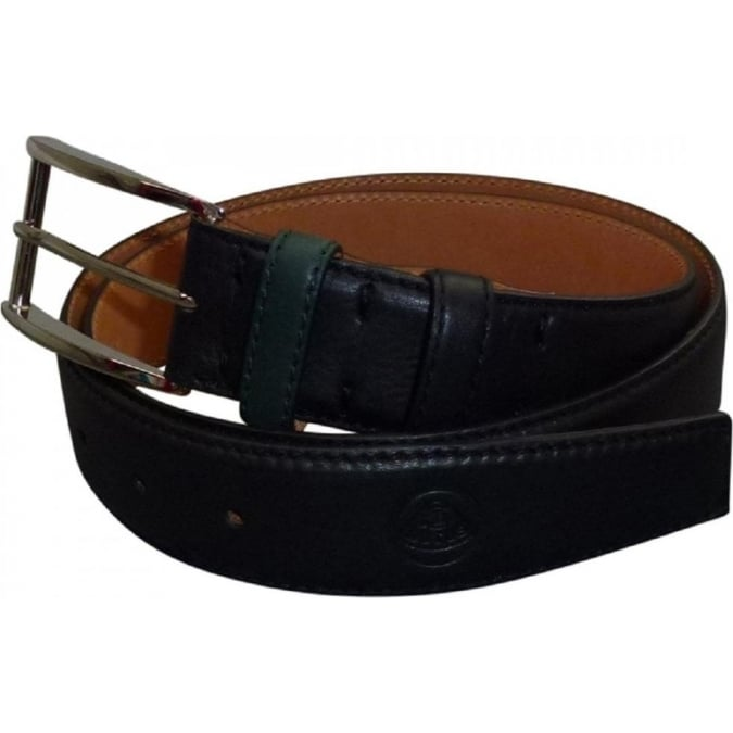 Lotus Leather Belt Black