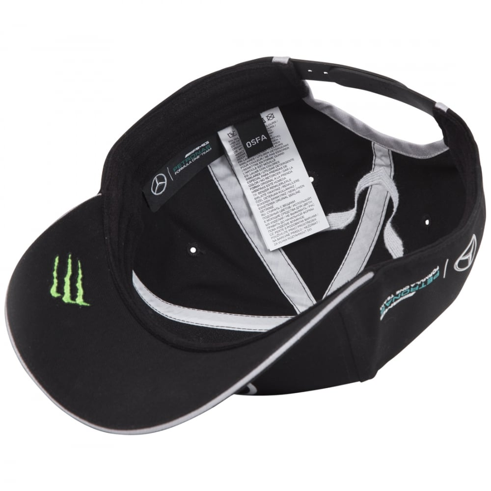 official mercedes amg petronas lewis hamilton drivers cap. Black Bedroom Furniture Sets. Home Design Ideas