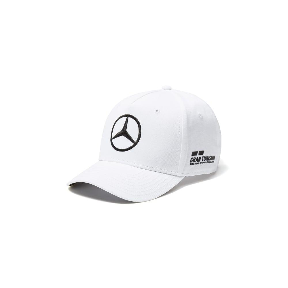 b9a8b75305f Mercedes AMG Petronas F1 Lewis Hamilton Baseball Drivers Cap White 2018