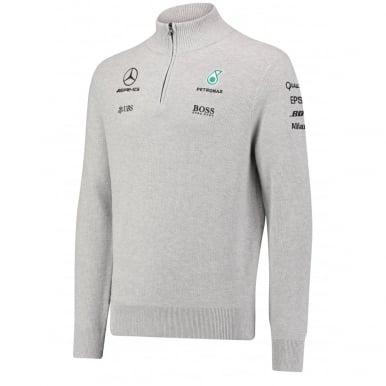 Mercedes AMG Petronas F1 Mens Half Zip Knitted Jumper 2017