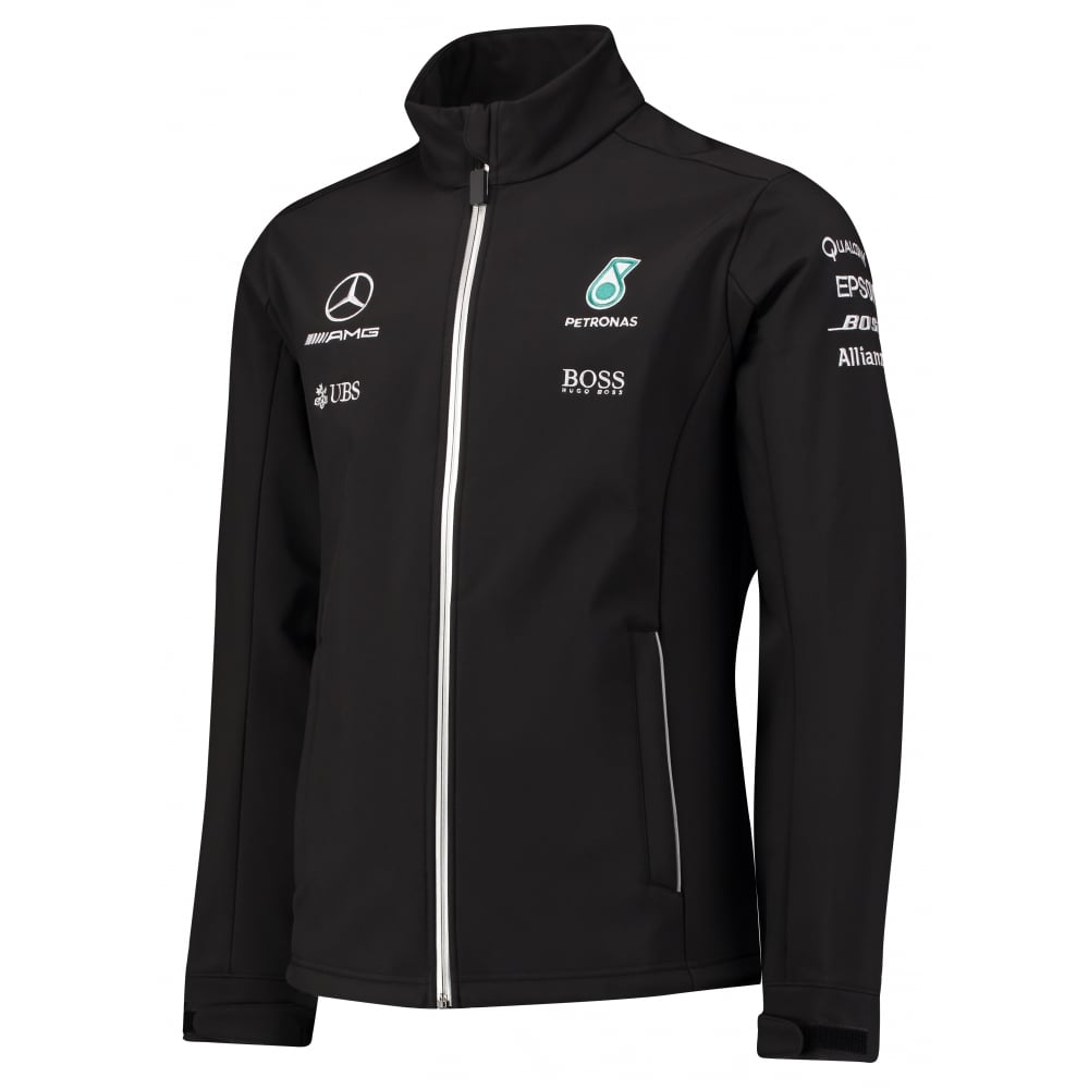 Official mercedes amg petronas f1 softshell jacket 2017 for Mercedes benz amg clothing