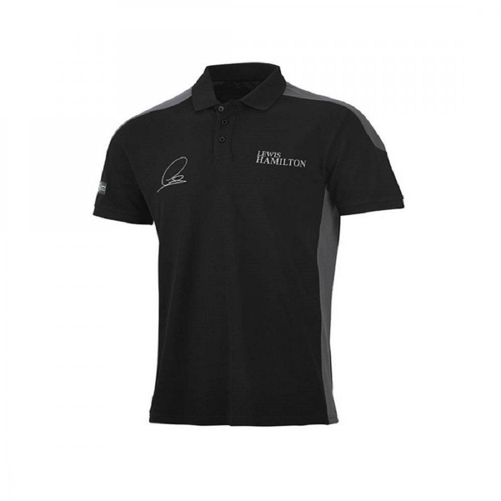 mercedes amg lewis hamilton polo shirt 2015 black. Black Bedroom Furniture Sets. Home Design Ideas