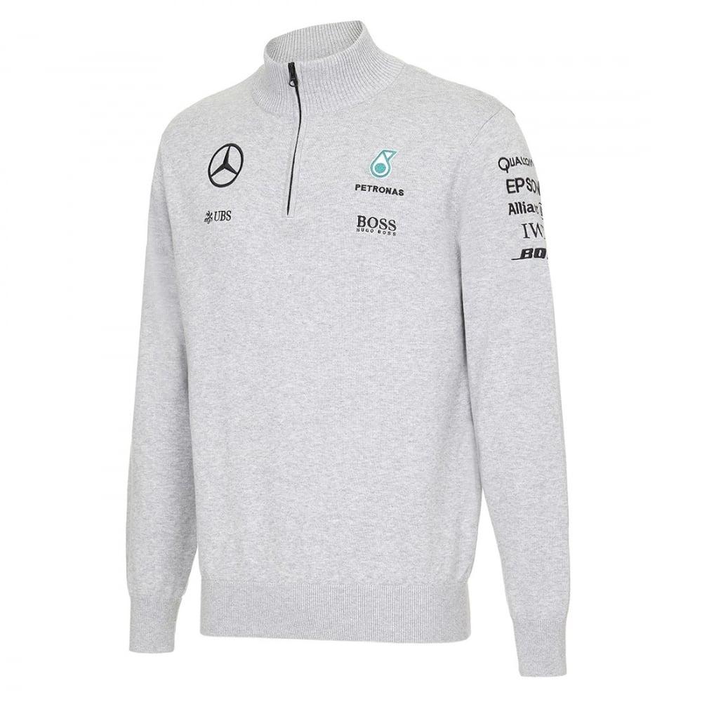 Official Mercedes Amg Petronas Half Zip Knitted Jumper 2016