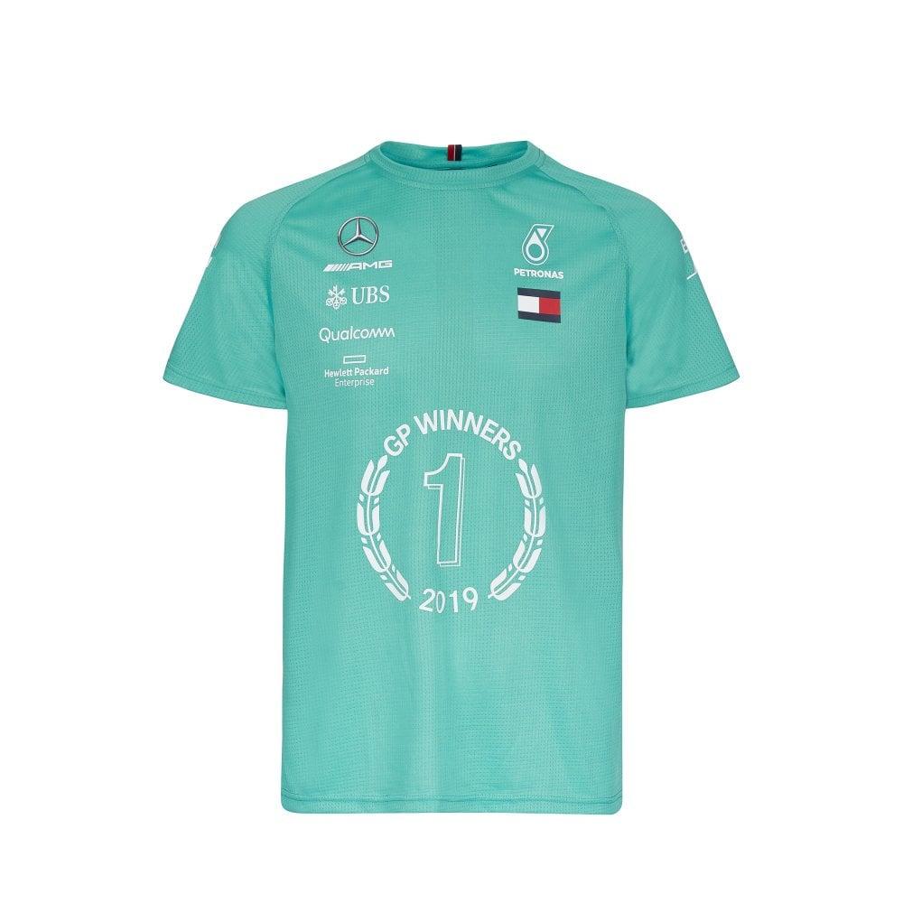high quality materials arrives modern and elegant in fashion Mercedes AMG Petronas Mercedes AMG Petronas Motorsport 2019 F1™ Race Winner  T-Shirt