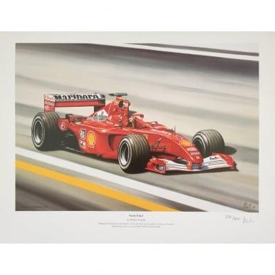 Michael Schumacher Ferrari Noch Eins Print by Robert Tomlin