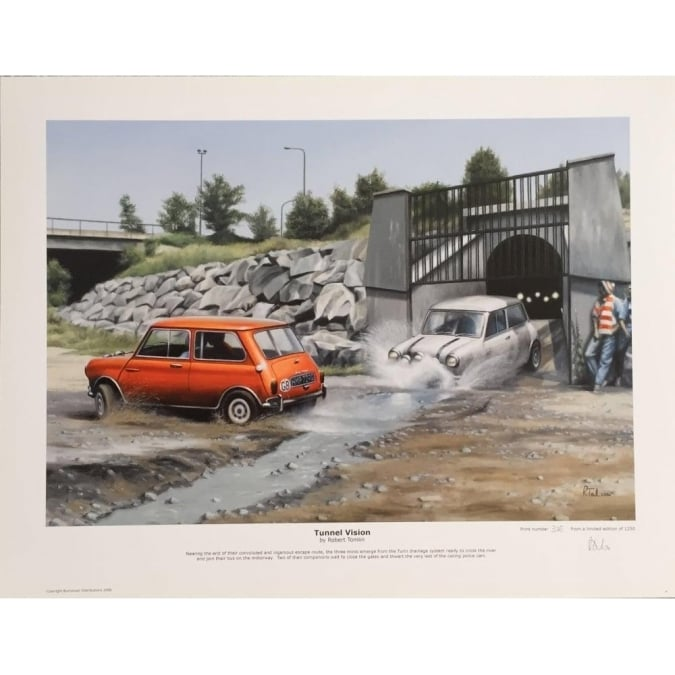 Robert Tomlin Mini Italian Job Tunnel Vision by