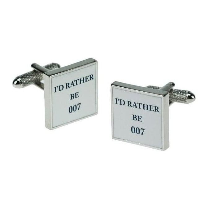 Onyx-Art I'D Rather be 007 Cufflinks