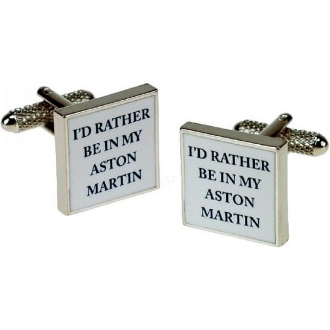 Onyx-Art Id Rather Be In My Aston Martin Cufflinks