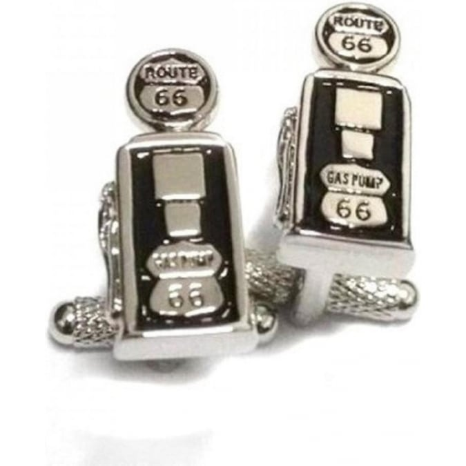 Onyx-Art Route 66 Gas Pump Retro Cufflinks