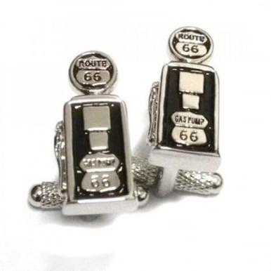 Route 66 Gas Pump Retro Cufflinks