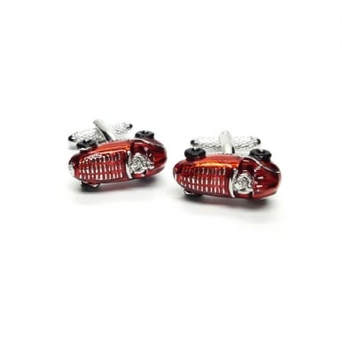 Vintage Racing Car Cufflinks