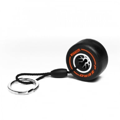 Hard Tyre Keyring (Orange)