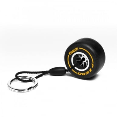 Soft Tyre Keyring (Yellow)