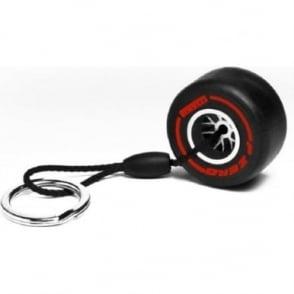Pirelli Super Soft Tyre Keyring (Red)