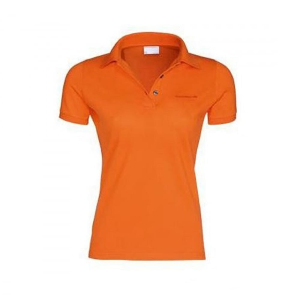 Ladies polo shirt with porsche logo for Polo shirt logo design