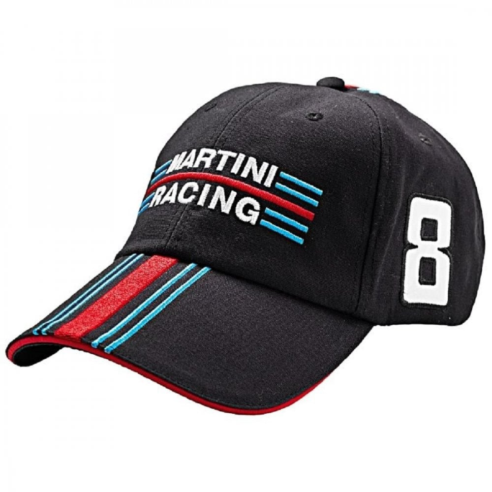 Martini Racing Porsche Martini Racing Baseball Cap Black No 8 ... 15c7c20b6d40