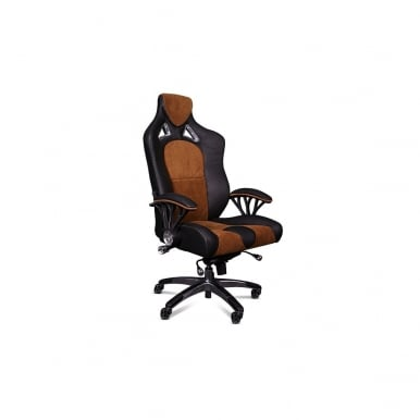 Speed-998 Office Racing Chair Speed Leather and Suede Black/Tan