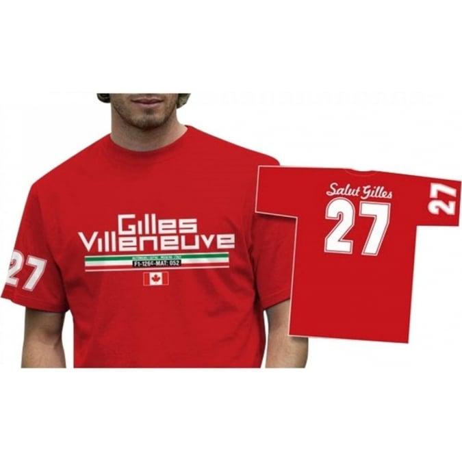 Retro GP Gilles Villeneuve 27 T-Shirt Red
