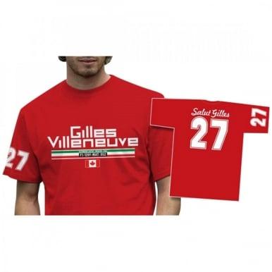 Gilles Villeneuve 27 T-Shirt Red