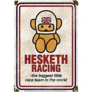 Official Hesketh Racing Metal Sign