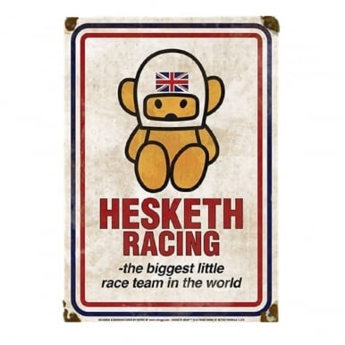 Official Hesketh Racing Metal Sign