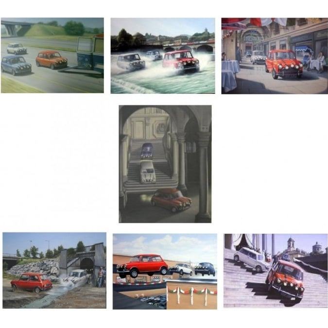 Robert Tomlin Set of 7 Italian Job Prints By