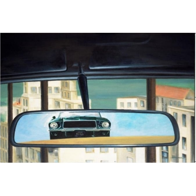 Sporting Display Bullitt Rear View Mirror Print