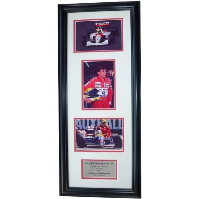Sporting Display Framed Ayrton Senna Formula 1 Storyboard