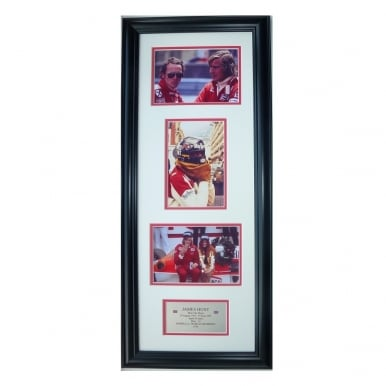 Framed James Hunt Formula 1 Storyboard