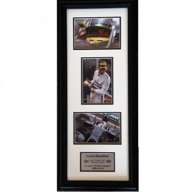 Framed Lewis Hamilton World Champion 2014 Formula 1 Storyboard