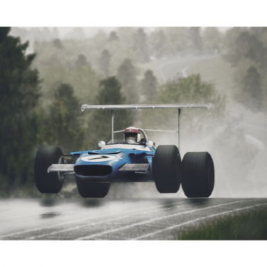 Jackie Stewart Flying Scot Mounted Picture