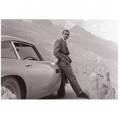 James Bond Aston Martin Art Print Goldfinger