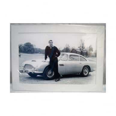 James Bond Goldfinger Mounted Photo
