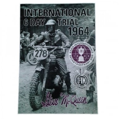 Steve McQueen International 6 Day Trial 1964 poster