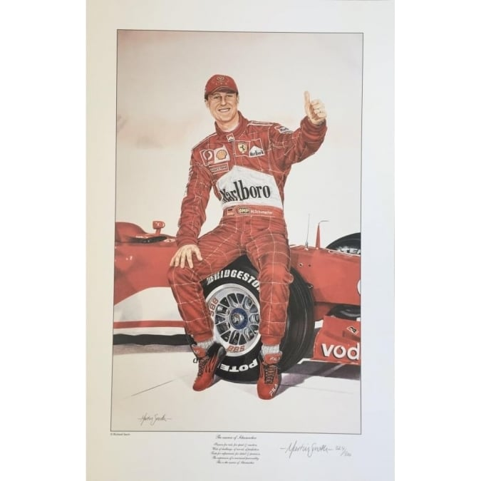 Sporting Display The essence of Schumacher by Martin Smith (Limited edition of 500 prints)